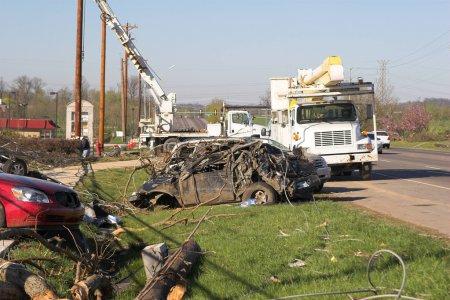 Car Destroyed By Tornado