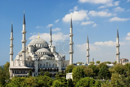 Sultan ahmed mosque in istanbul turkey