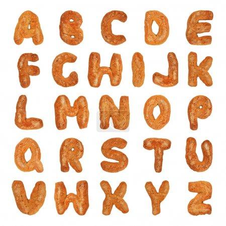 Photo pour Lettres de l'alphabet Britannique fait de pain d'épice - image libre de droit