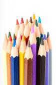 Mnoho různých barevné tužky