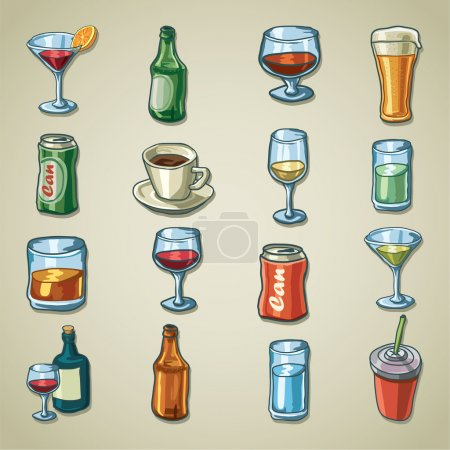 Freehands icons - beverages