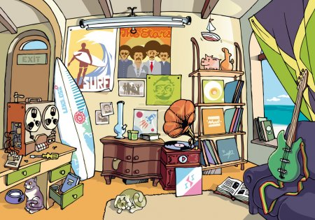 The surfer's room