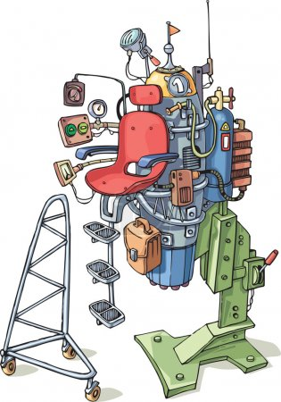 Illustration for The strage personal aircraft with the jet engine. - Royalty Free Image