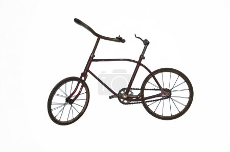 Old bycicle isolated