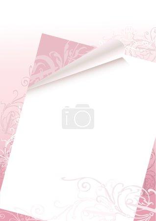 Illustration pour Illustration vectorielle d'un fond de lettre pour le mariage de la Saint-Valentin - image libre de droit