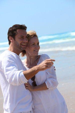 Portrait of a couple on the beach