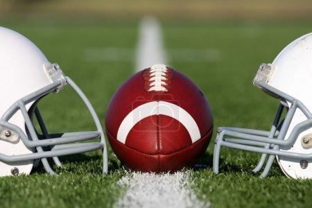 American Football Helmet Face Off