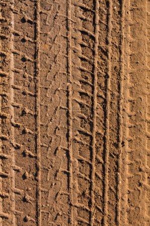 Foto de Huellas en el lodo para el fondo de transporte - Imagen libre de derechos