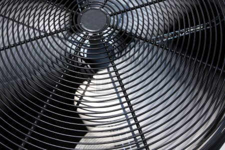 Photo for External Air Conditioner Unit or Fan for Industrial Background - Royalty Free Image