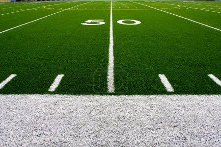 American Football Field Fifty Yard Line