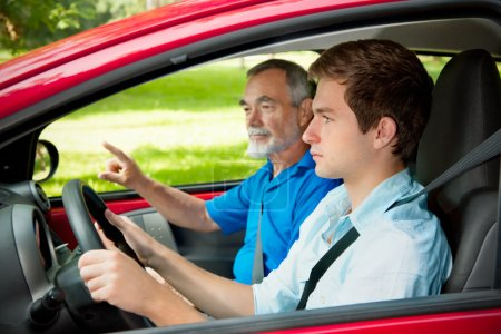 Photo for Teenager learning to drive - Royalty Free Image