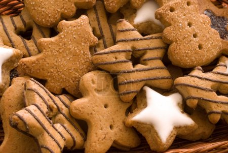 Photo for Spice cookies as christmas background - Royalty Free Image