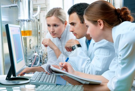 Photo for Group of scientists working at the laboratory - Royalty Free Image