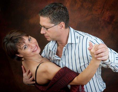 Attractive couple dancing