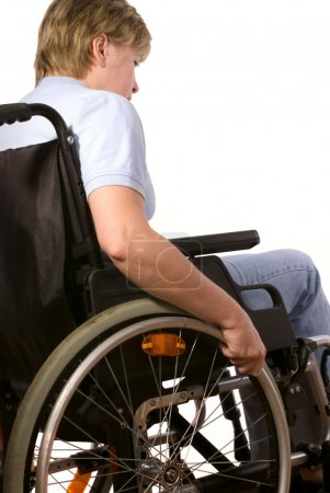 Photo pour Femme en fauteuil roulant - image libre de droit