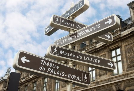 Photo for Famous signpost in Paris - Royalty Free Image