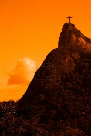 Photo for Christ Redeemer: a view like no other It's from the top of Corcovado Mountain, 710 meters above sea level, with its 360 degree panoramic view - Royalty Free Image