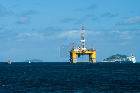 Marine Petroleum Platform in Guanabara Bay
