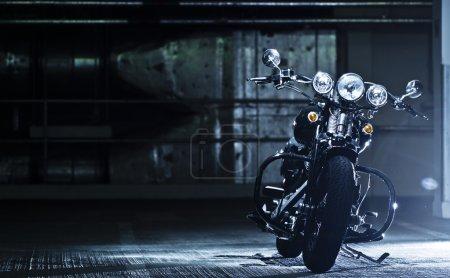 Parked motorbike