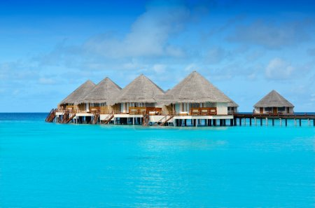 Water bungalows over the ocean