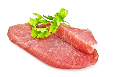 Photo for Raw tuna steak with spice - Royalty Free Image