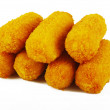 Croquettes on the white background...