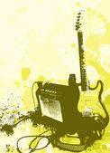 Grunge style guitar and amphi