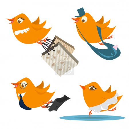 Illustration for Set of cute birds - Royalty Free Image