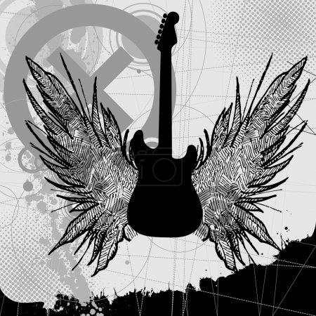 Vector rock guitar