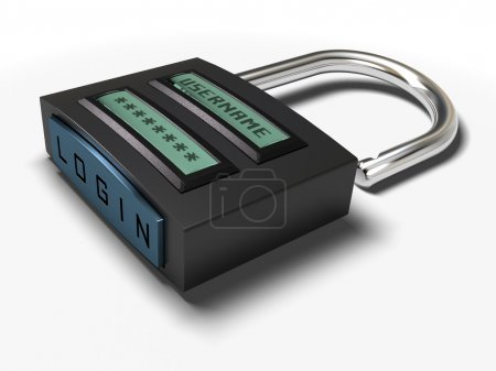 Secured access padlock
