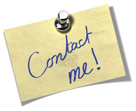 Contact me memo note