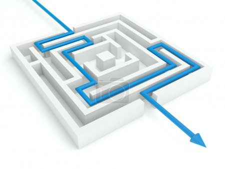 3d Maze Solved, Business Concept