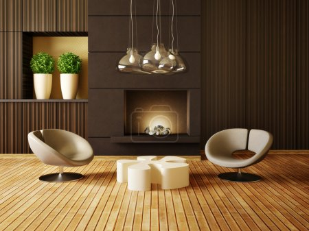 Photo for Modern interior room with nice furniture inside - Royalty Free Image
