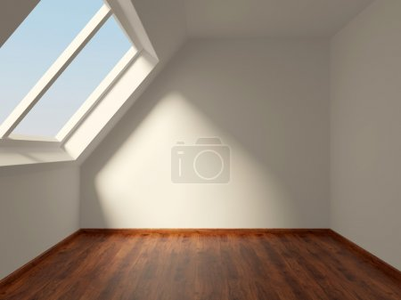 Photo for Empty room on the loft - Royalty Free Image