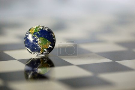 Earth on a chessboard