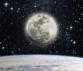 Země a měsíc