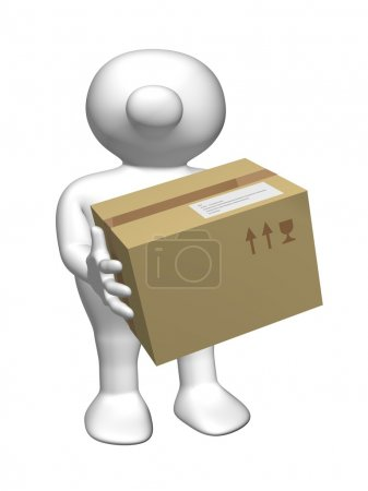 Logoman with postal package