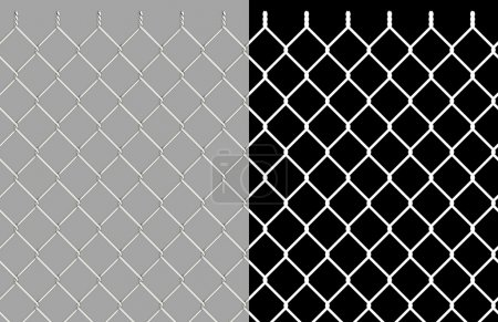 Shiny wire chain link fence