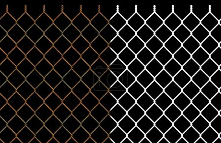 Rusty wire chain link fence