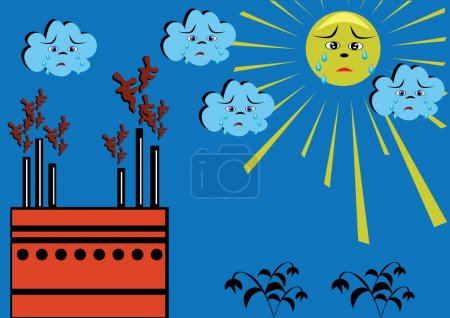 Environmental contamination. The nature in grief