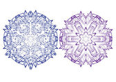 Set of abstract vector isolated snowflake