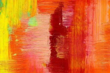 Fondo abstracto dibujado por pinturas al óleo