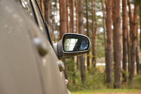 Automobile lateral mirror