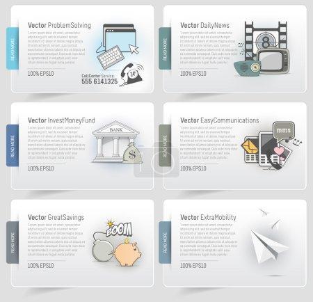 Illustration pour Éléments de modèle de conception site Web - image libre de droit
