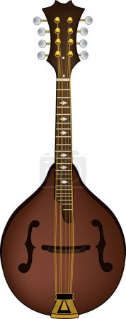 Photo pour Clip Art Illustration d'une mandoline . - image libre de droit