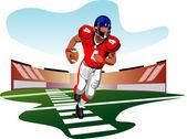 American football player vector