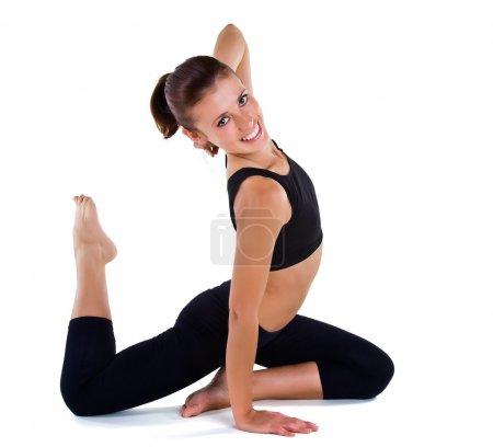 Beautiful girl gymnastics