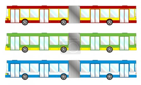 Illustration for Vehicle pack - long bus - Royalty Free Image