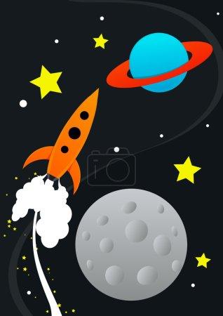 Illustration for Rocket Illustration - Royalty Free Image
