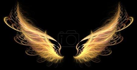 Photo pour Ailes de feu de démon ou d'ange - image libre de droit